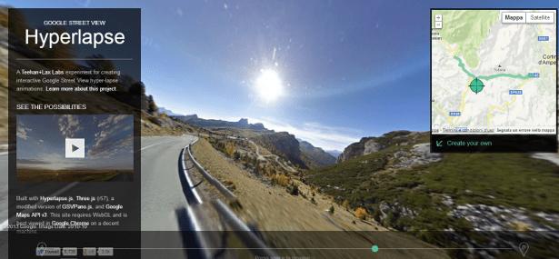 Street View Hyperlapse passo Falzarego