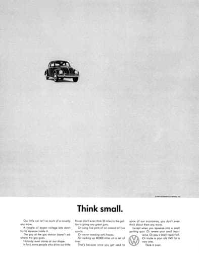 bill bernbach Think Small