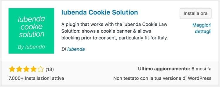 iubenda cookie solution