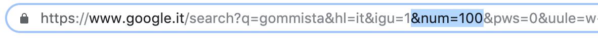Modificare url query