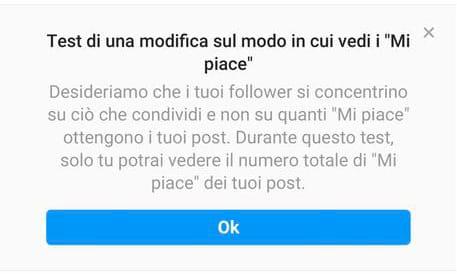 test like instagram