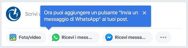 whatsapp pagina Facebook